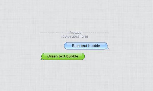 Glossy iPhone chat UI PSD freebie