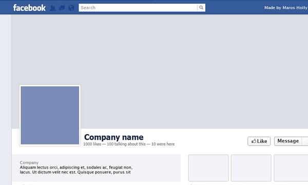 Freebie PSD Facebook template profile timeline