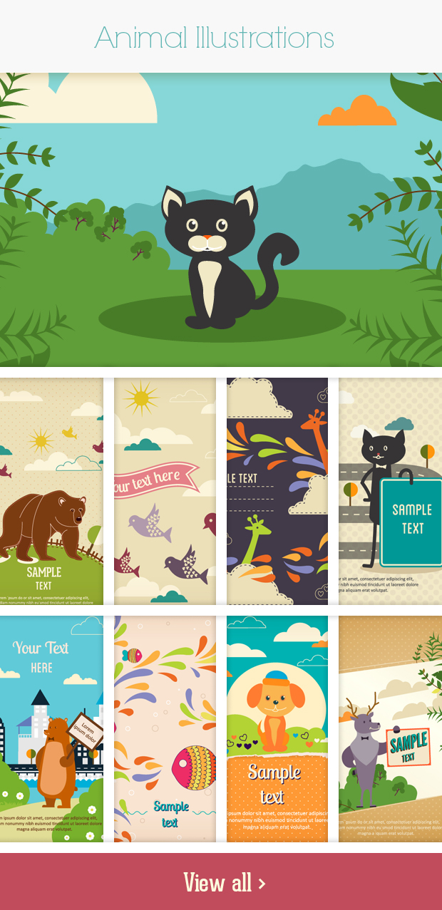 animals small Deal of the Week: 600+ Top Quality Vector Illustrations – Only $49