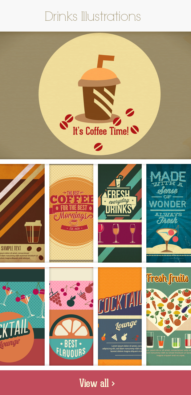 drinks small Deal of the Week: 600+ Top Quality Vector Illustrations – Only $49