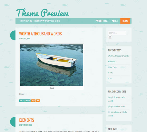 WordPress-›-Something-Fishy-«-Free-WordPress-Theme