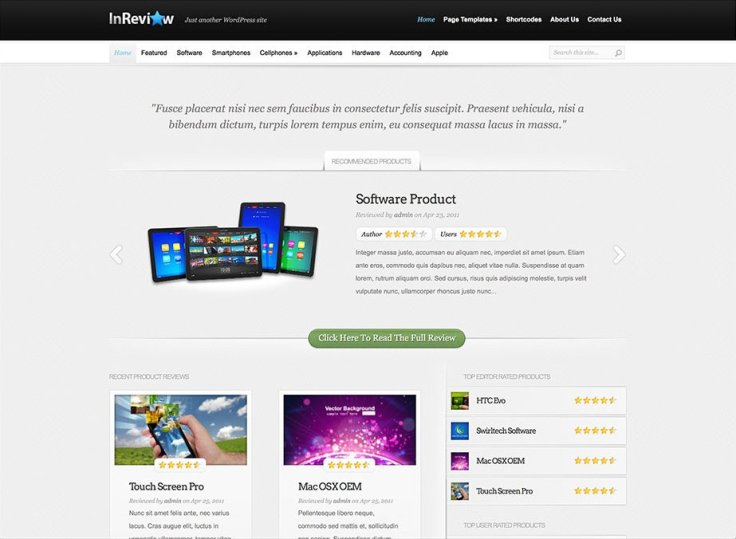 Inreview - WordPress Review Themes