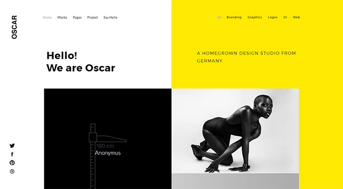 OSCAR - Multi Concept Creative Portfolio / Agency WordPress Theme