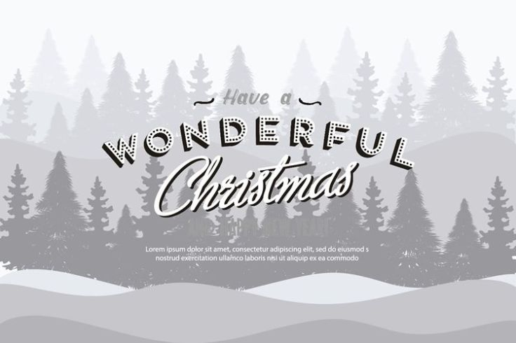 Christmas Background Illustration with Retro Text free holidays