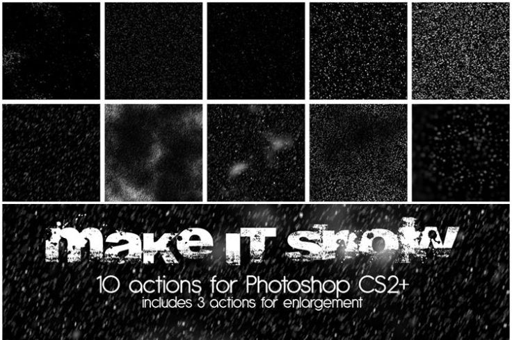 10 Make it Snow Actions free holidays