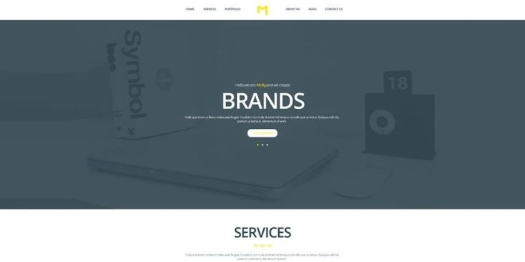 Molly Free PSD Creative Single Page Website Template