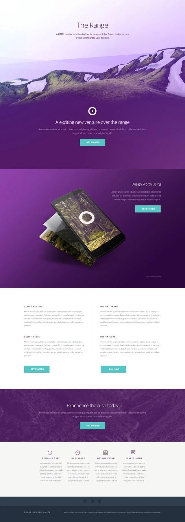 Best Free Single Page Website Templates PSD - Pixel2Pixel Design