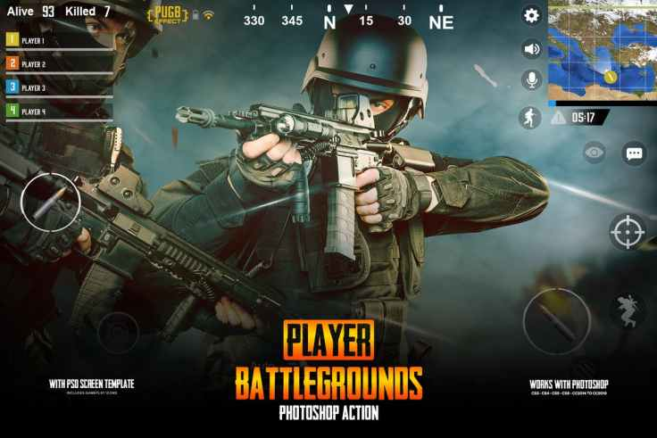 Player Battlegrounds Photoshop Action PUGB