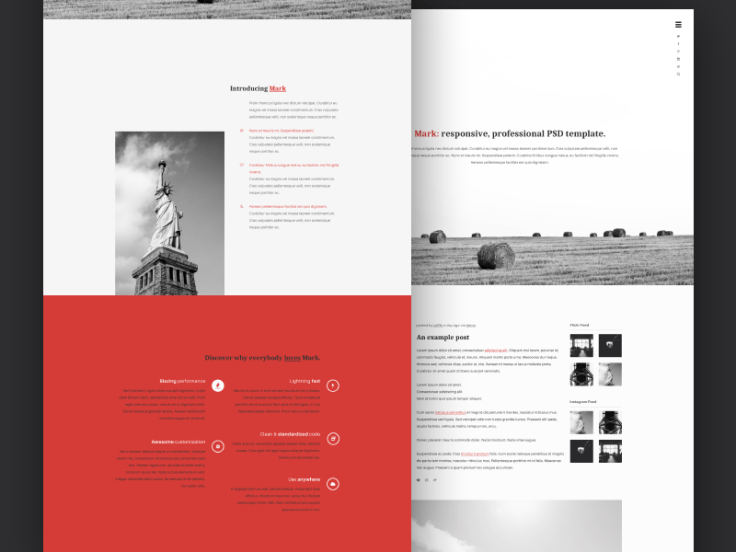 Mark – Free Portfolio PSD Template