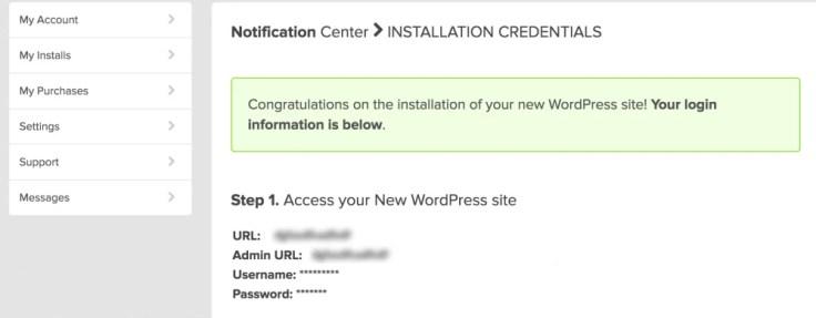 WordPress Login Credential