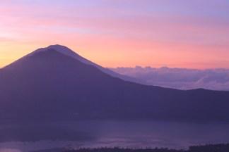 Sunrise over Bali on top of Batur
