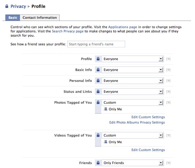 Facebook | Profile Privacy