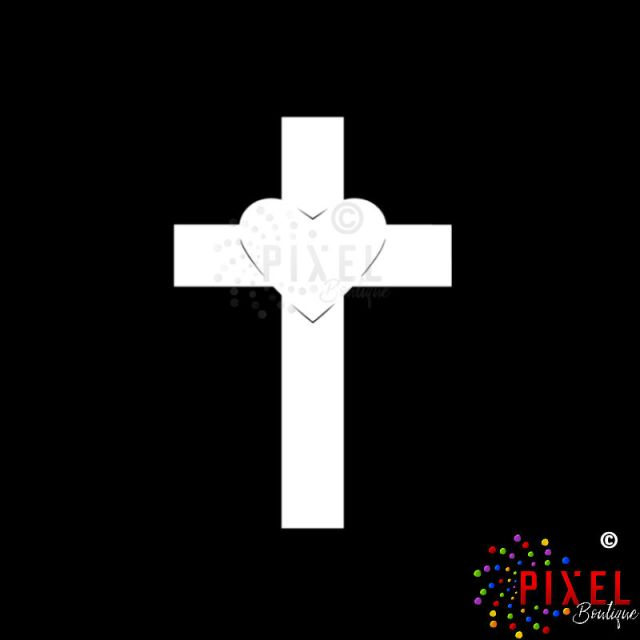 Heart on Cross Decal Main