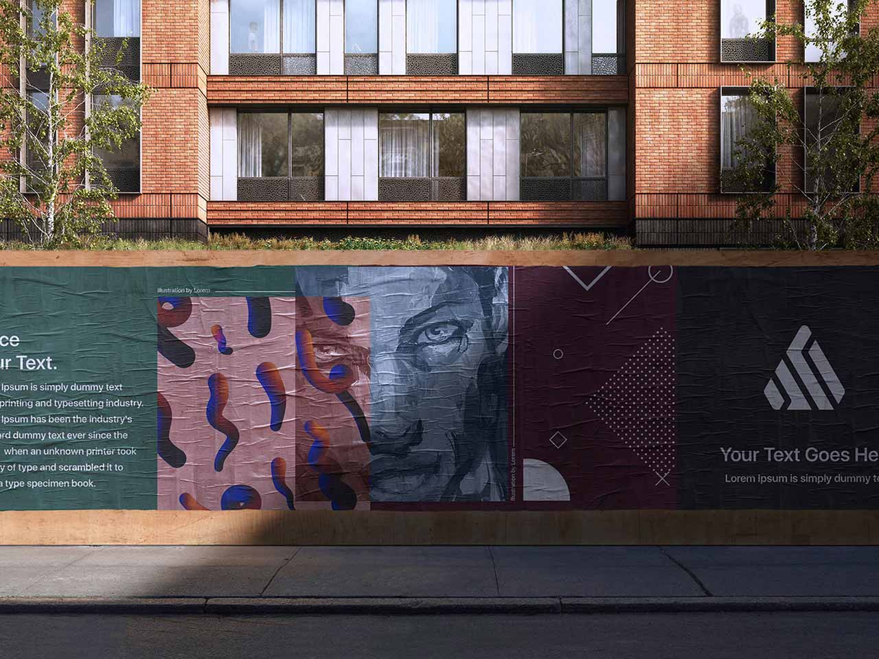 Hense the rise in popularity of the psd mockup. Download Street Poster Mockup Scene