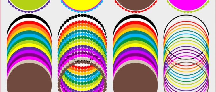 rainbow border clip art, party themes, scalloped circle template, cupcake toppers, printable cupcake topper template, free printables, free clip art, borders Clip Art Free, scalloped borders clip art free