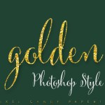 Design Your Own Glitter Logos with this Golden Photoshop Layer Style
