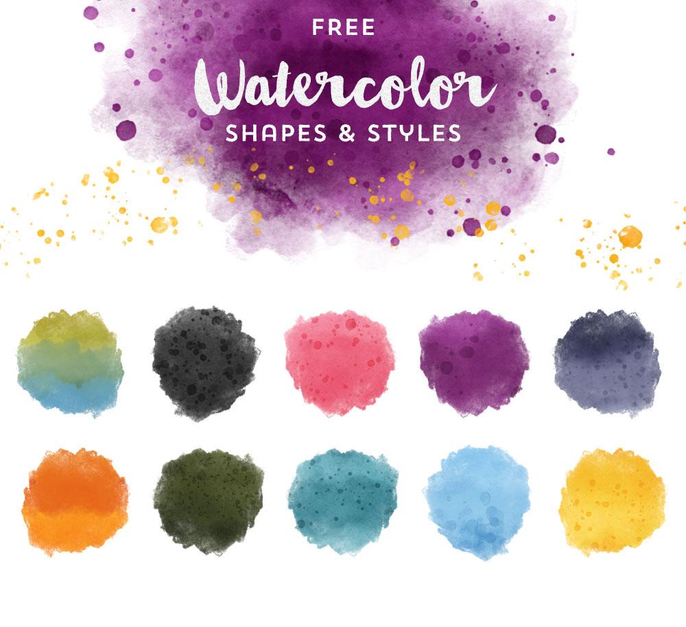 graphics design watercolor