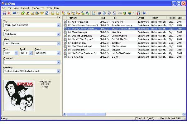 MP3Tag - Interfaz