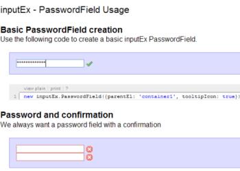 inputEx framework para crear formularios y controles