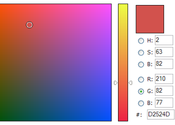 Javascript Color Picker biblioteca (librería) para implementar selector avanzado de colores como el Photoshop