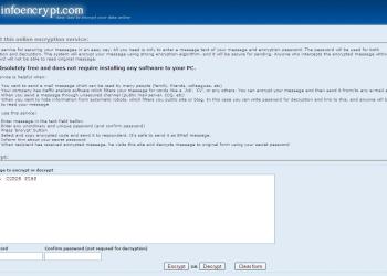 Infoencrypt - Captura de pantalla