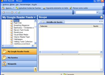RSS Bandit - Interfase | Captura de pantalla