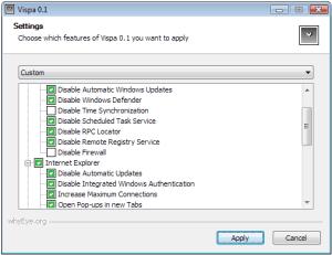 Vispa - interfase captura de pantalla