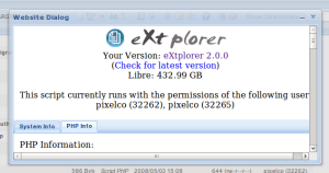 eXplorer - about dalog