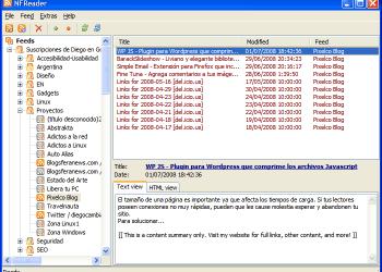 NFReader - Interfase | Captura de pantalla