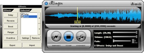 iRinger - Interface