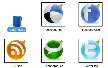 Social Balls Icon Set - Muestra