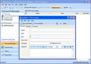 Effiicient Password Manager - Interfaz