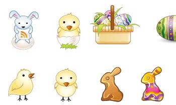 Easter Bunny Icons - Colección de íconos