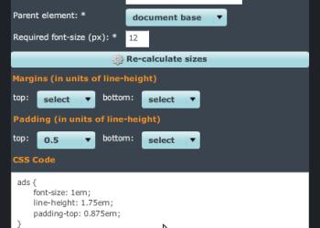 EM Calculator - Interfaz