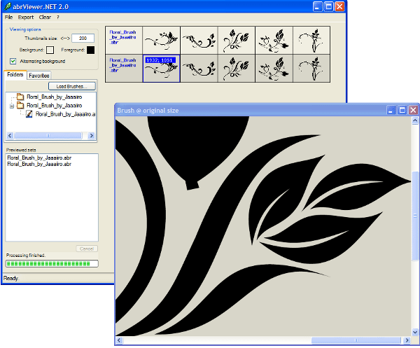 abrViewer - Interfaz