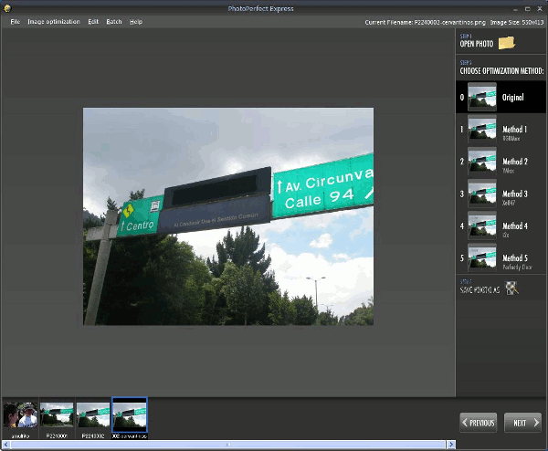 photoperfect-express-interfaz