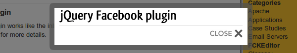 jquery-facebook-plugin