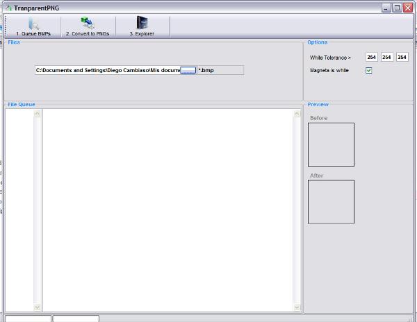 TransparentPNG - Interfaz
