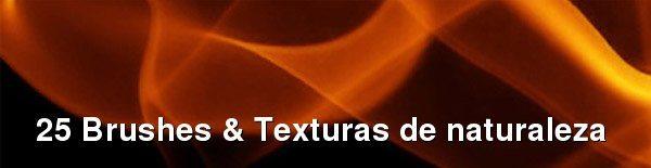 25 Brushes y Texturas de naturaleza