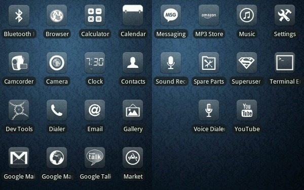 glasklart for android - icons set