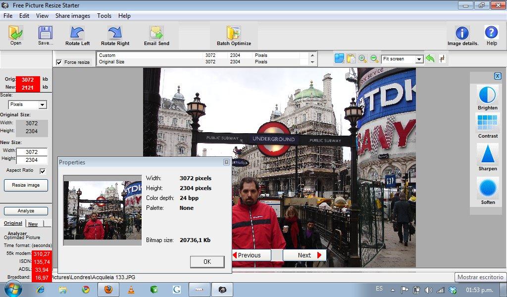 Picture Resize Starter - Interfaz