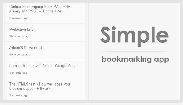 Simple Bookmarking APP