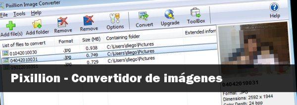 Pixillion - Convertidor de imágenes