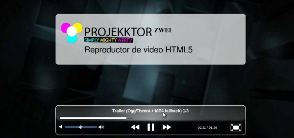 Projeckktor - Reproductor de video HTML5