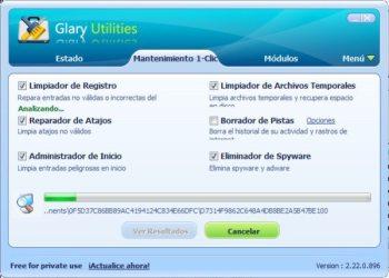 Glary Utilities - Interfaz