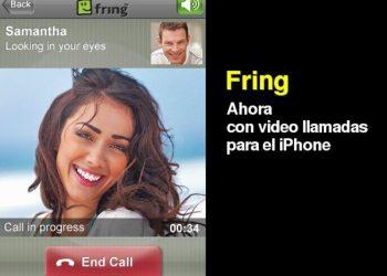 Fring programa gratis con video llamadas para el iphone