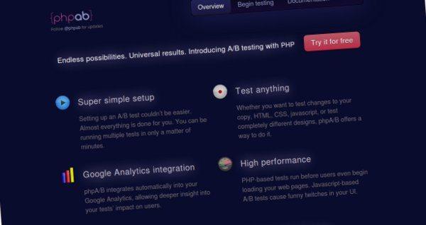 PHP A/B test