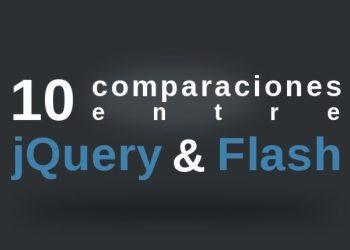 10 comparaciones entre jQuery y Flash