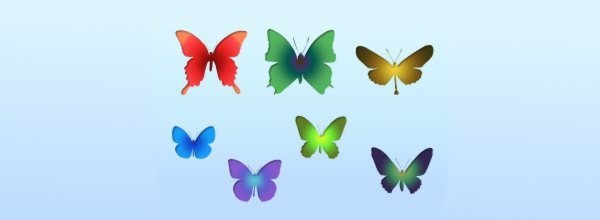 Butterfly Shapes-Free-Photoshop-brushes