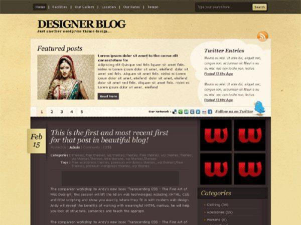 Mocha-free-WordPress-theme
